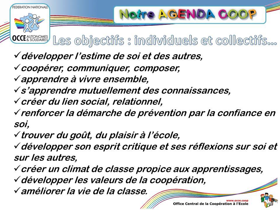 Les objectifs : individuels et collectifs…