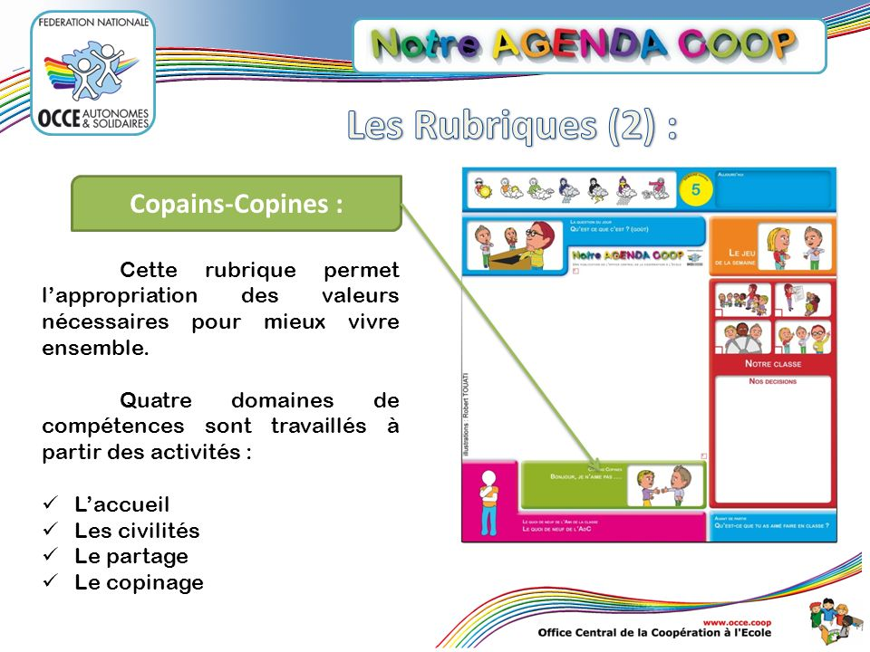 Les Rubriques (2) : Copains-Copines :