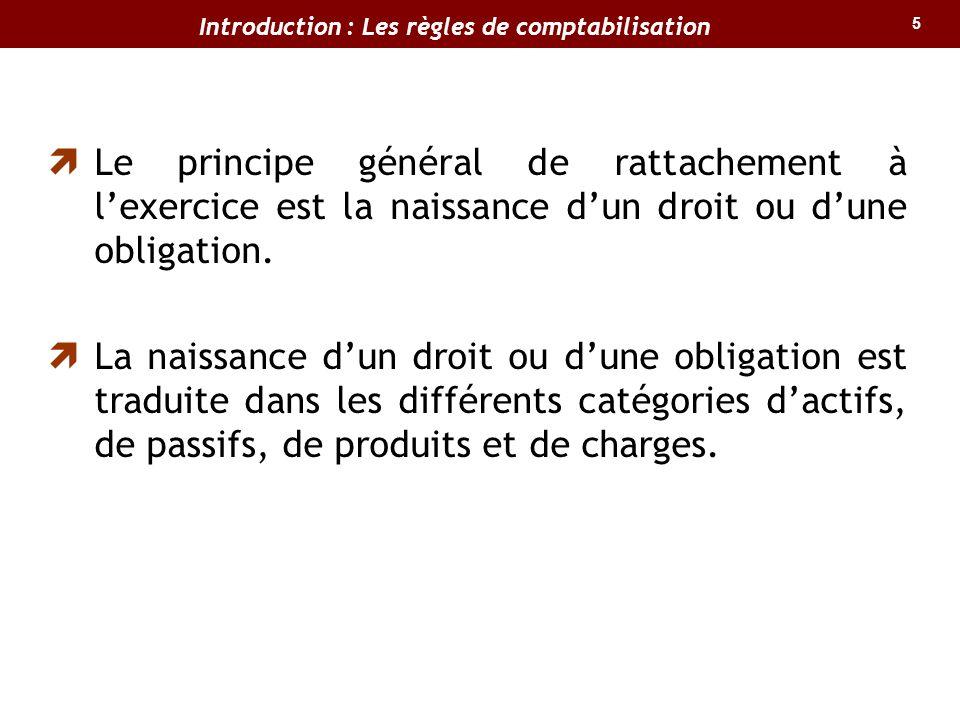 Introduction : Les règles de comptabilisation