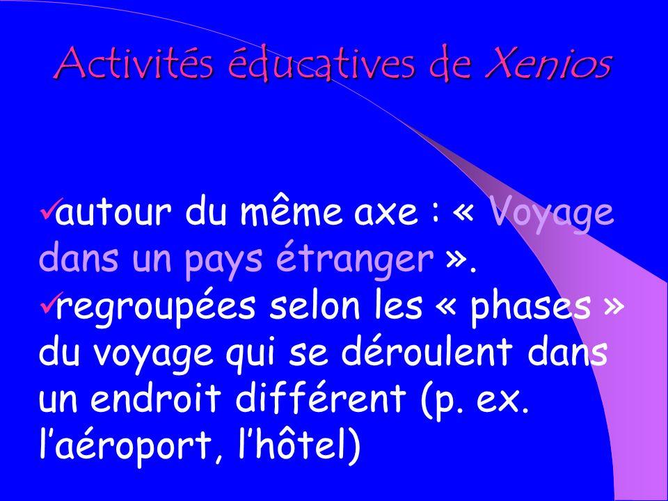 Activités éducatives de Xenios