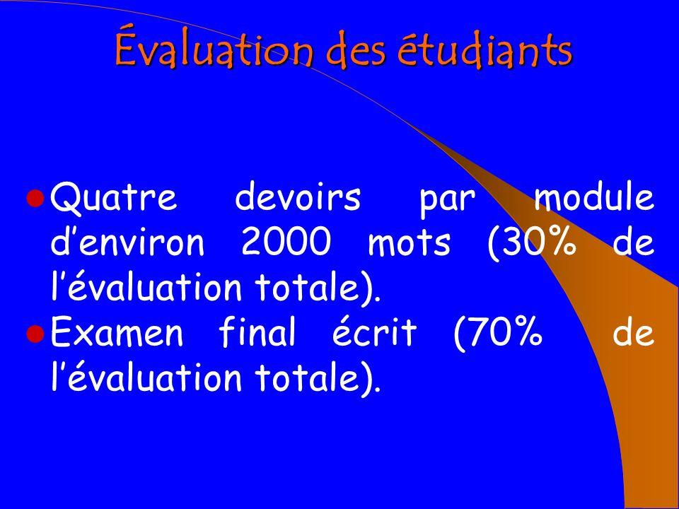 Évaluation des étudiants