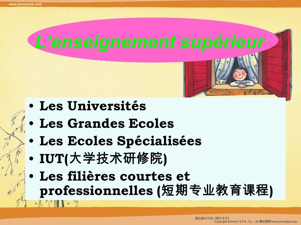 L'enseignement supérieur