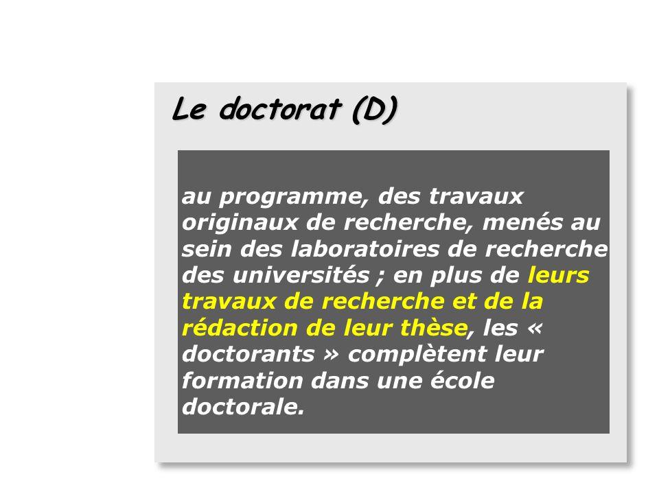 Le doctorat (D)