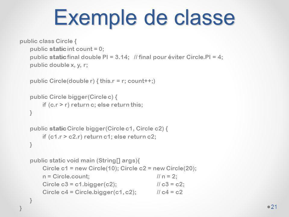 Exemple de classe