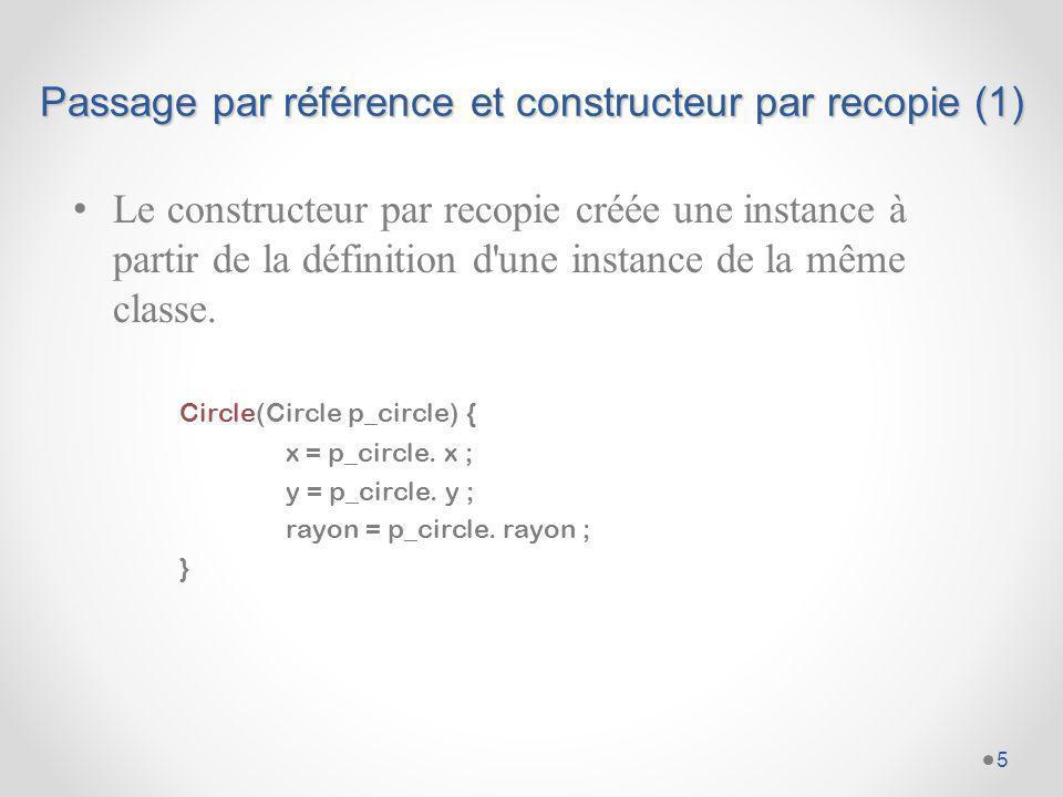 Passage par référence et constructeur par recopie (1)