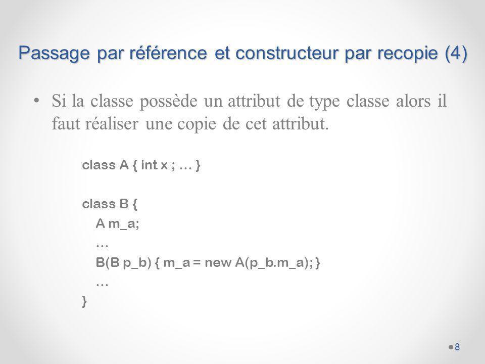 Passage par référence et constructeur par recopie (4)