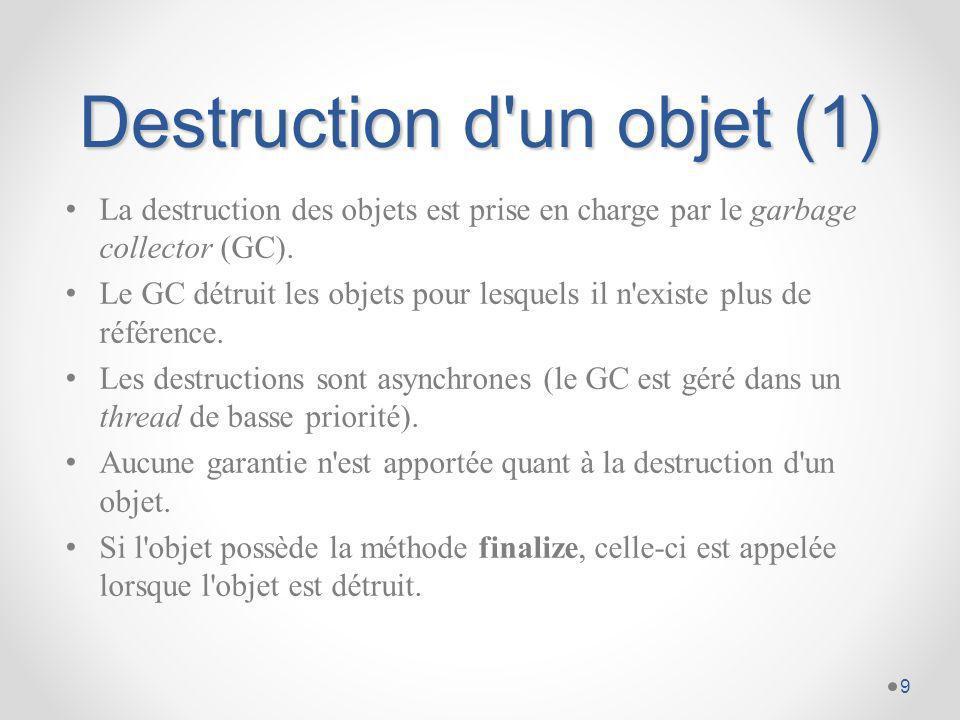 Destruction d un objet (1)