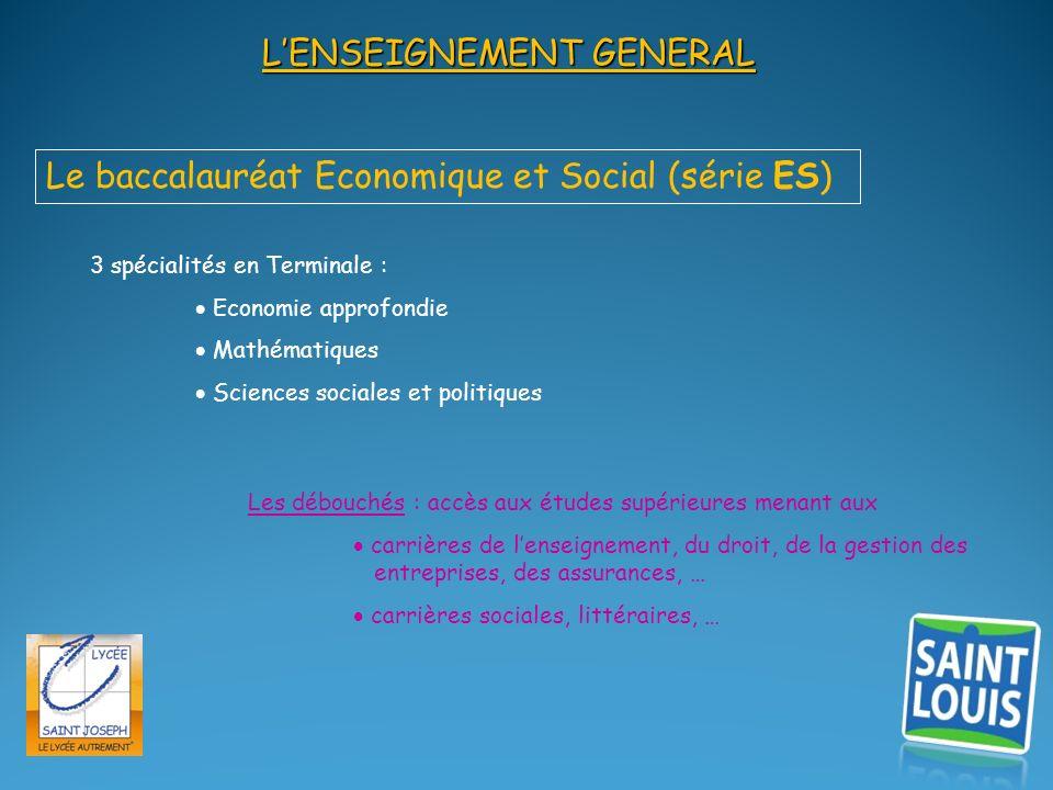 L'ENSEIGNEMENT GENERAL