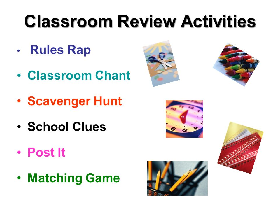 Classroom Review Activities