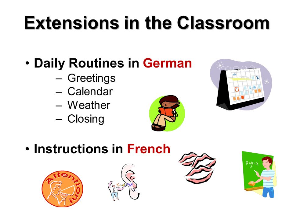 Extensions in the Classroom