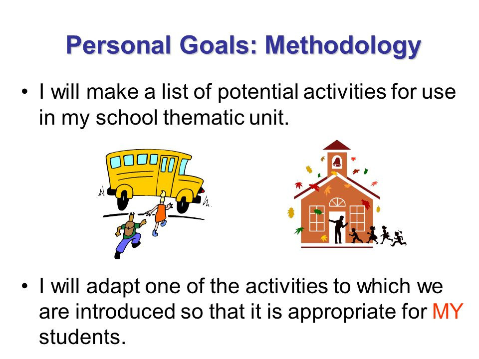 Personal Goals: Methodology
