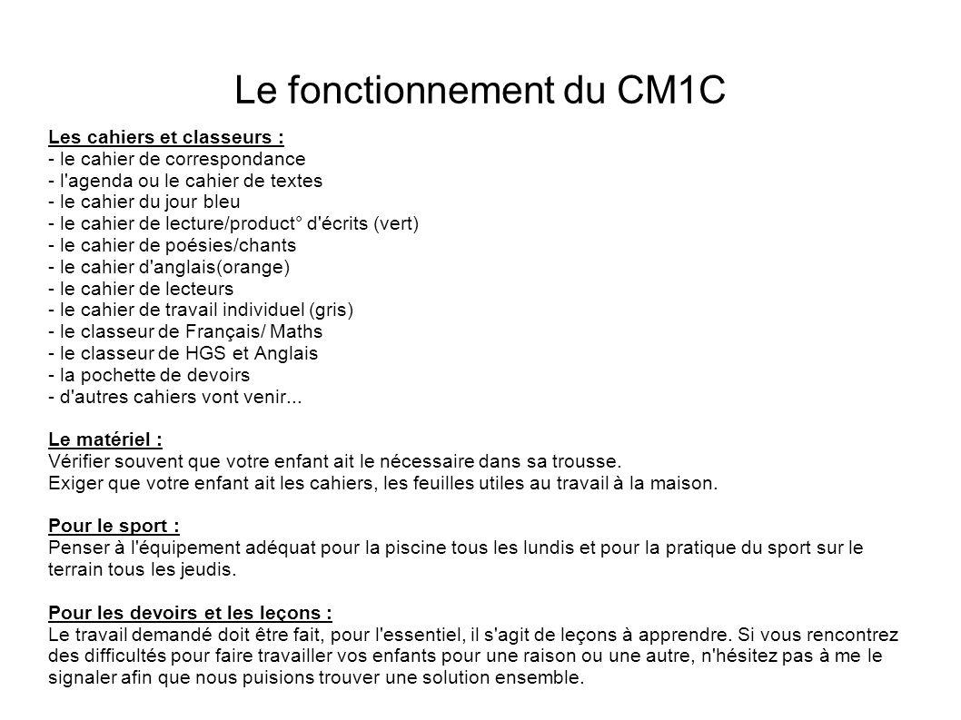 Le fonctionnement du CM1C