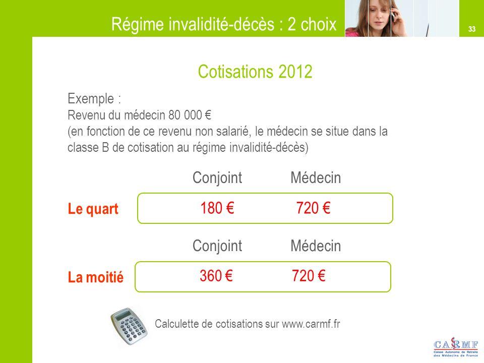 Calculette de cotisations sur www.carmf.fr