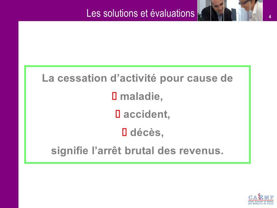 Les solutions et évaluations