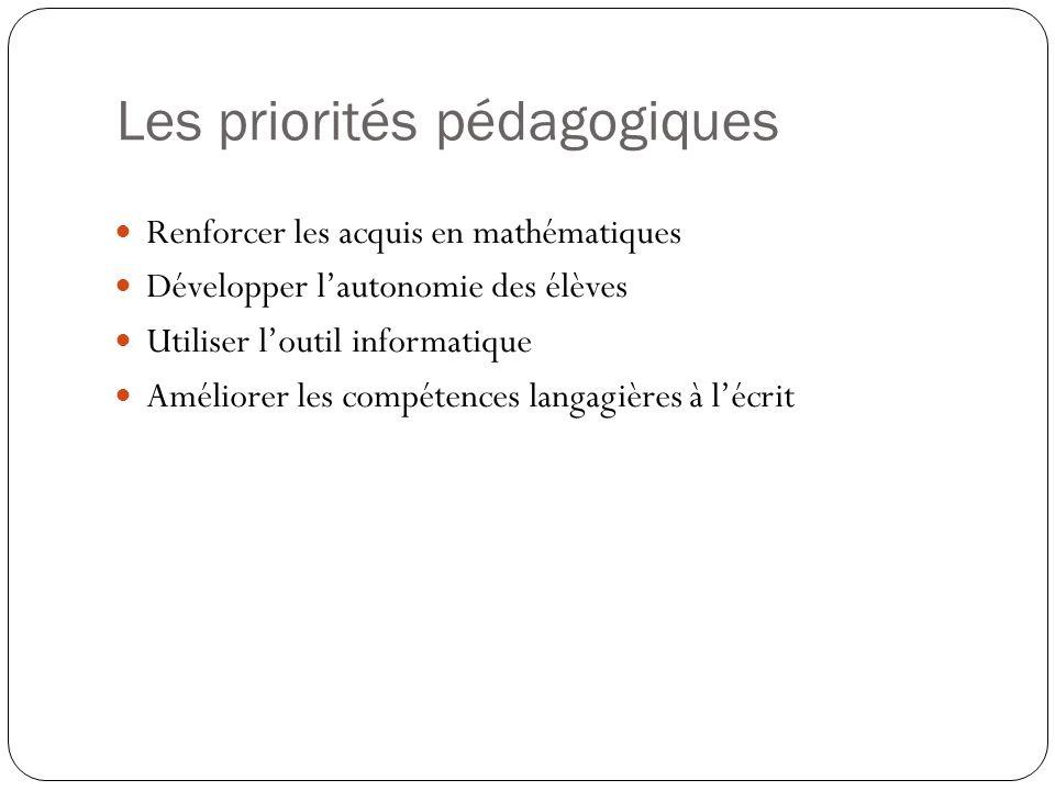 Les priorités pédagogiques