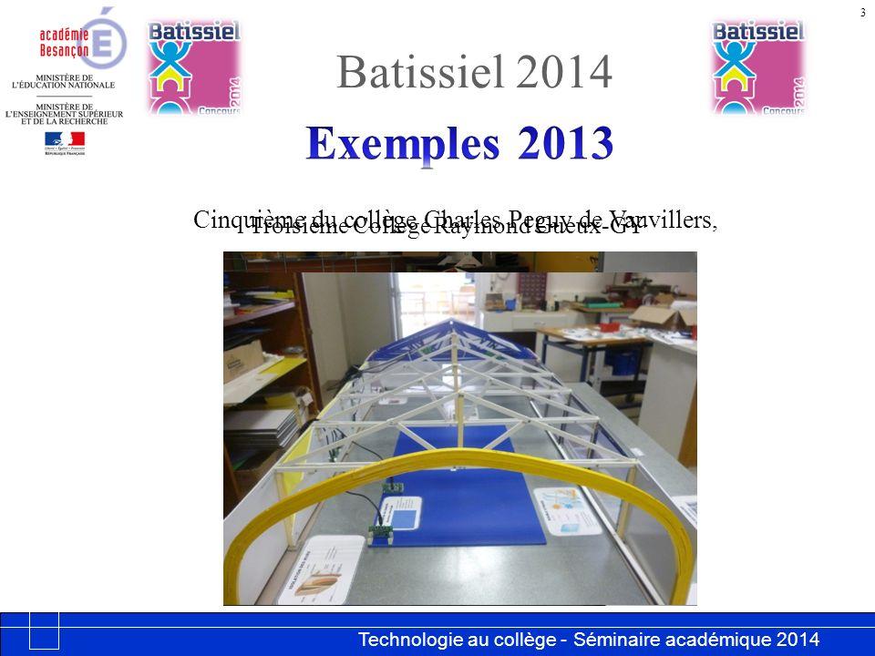 Batissiel 2014 Exemples 2013.