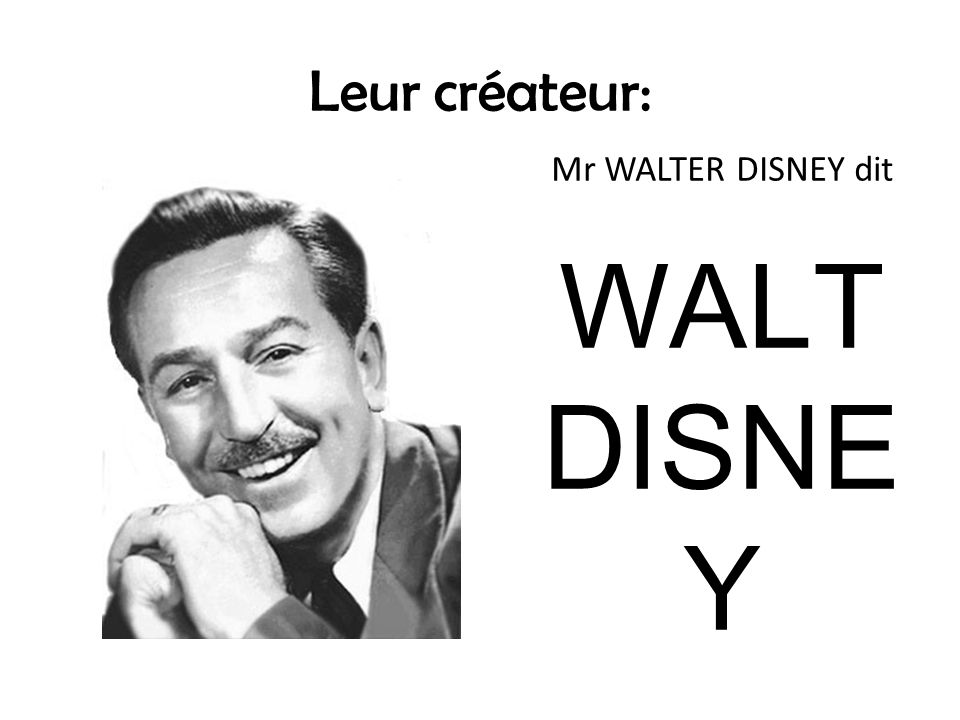 Mais qui était Walt Disney