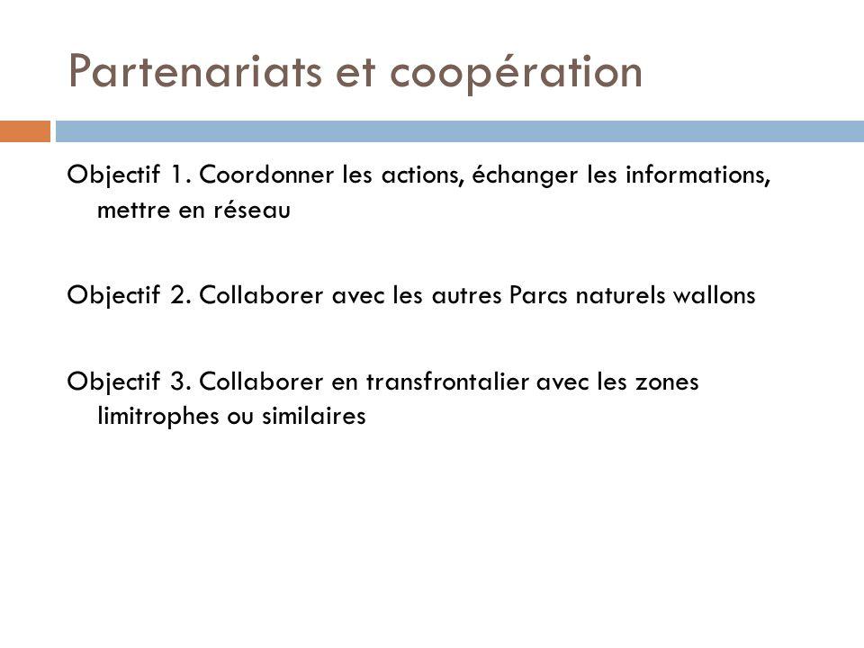 Partenariats et coopération
