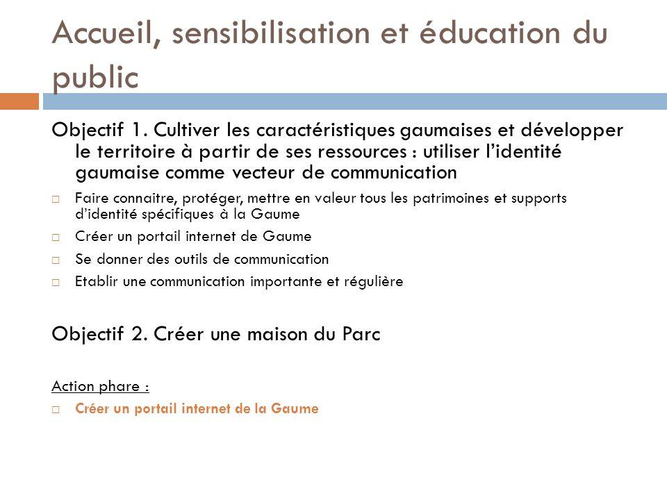 Accueil, sensibilisation et éducation du public