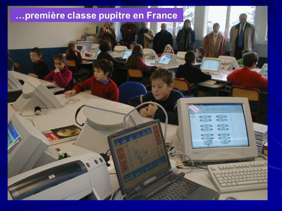 …première classe pupitre en France