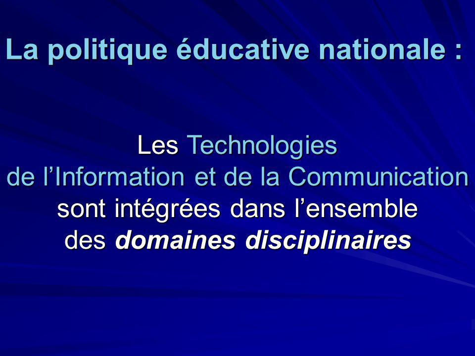 La politique éducative nationale :