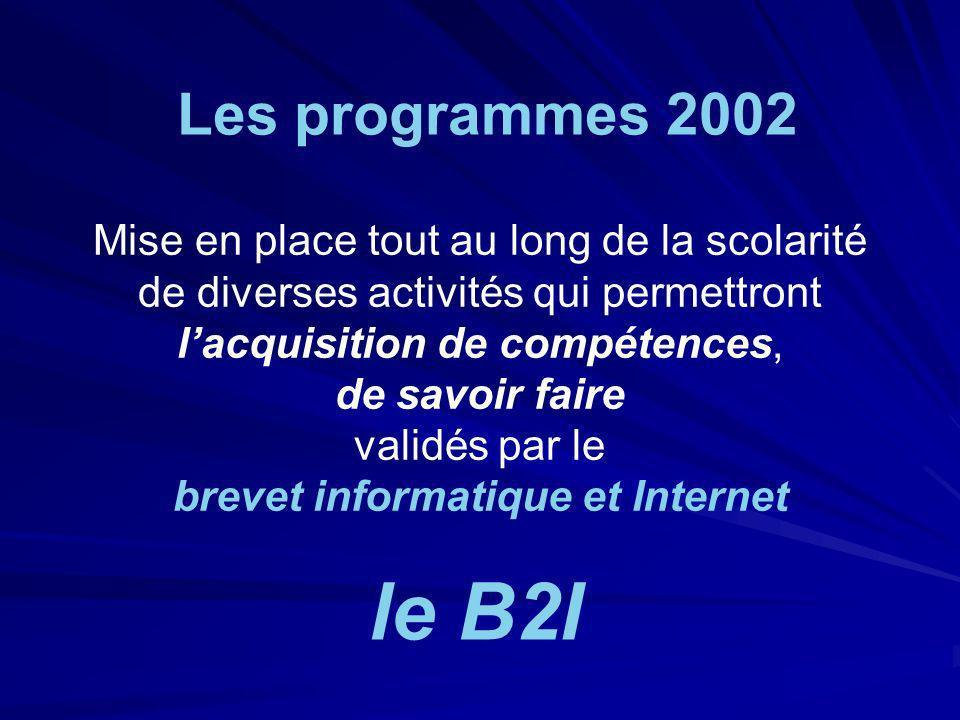 Les programmes 2002