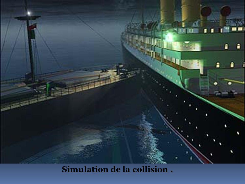 Simulation de la collision .