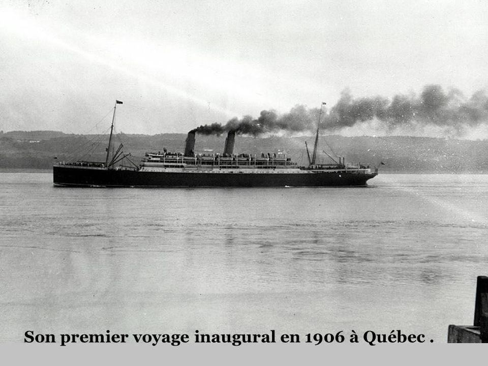 Son premier voyage inaugural en 1906 à Québec .
