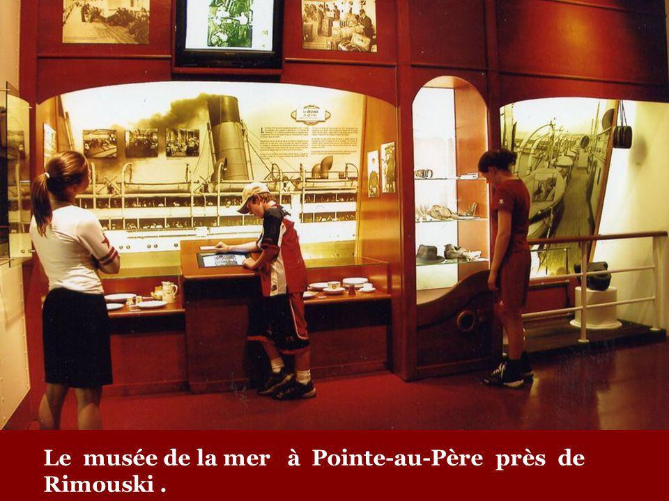 Le musée de la mer à Pointe-au-Père près de Rimouski .