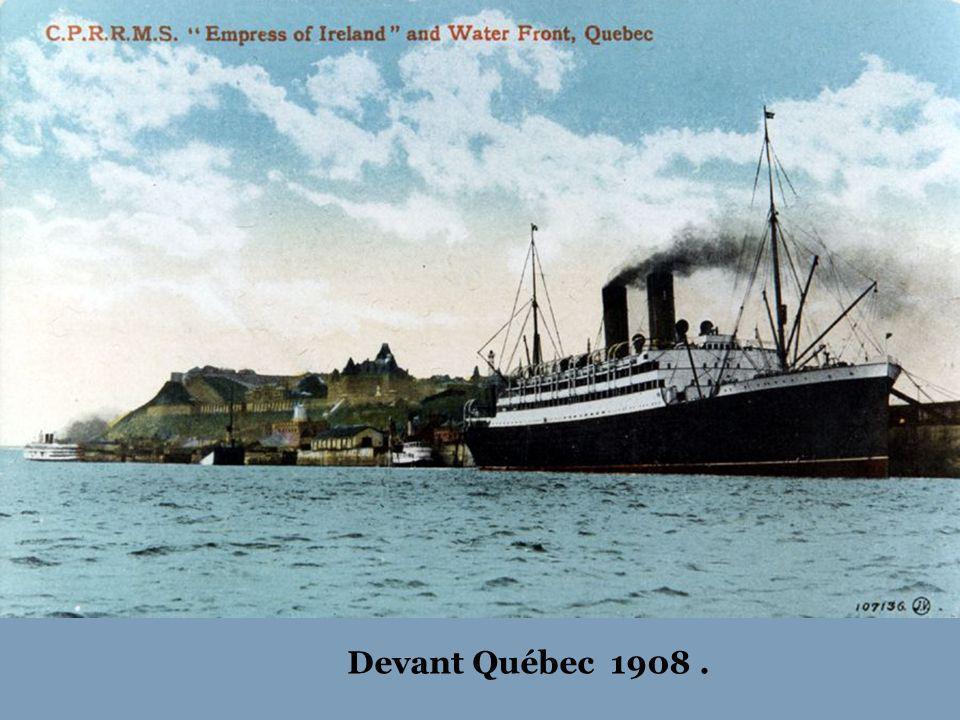 Devant Québec 1908 .