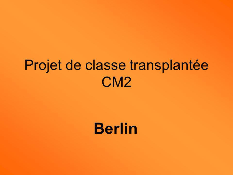 Projet de classe transplantée CM2
