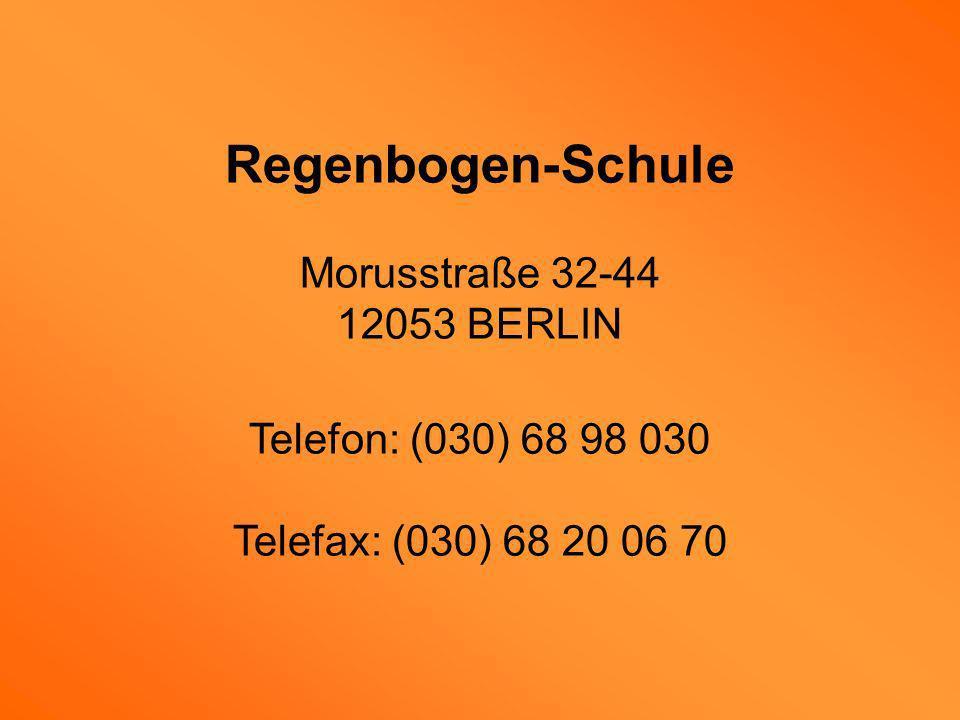 Regenbogen-Schule Morusstraße 32-44 12053 BERLIN
