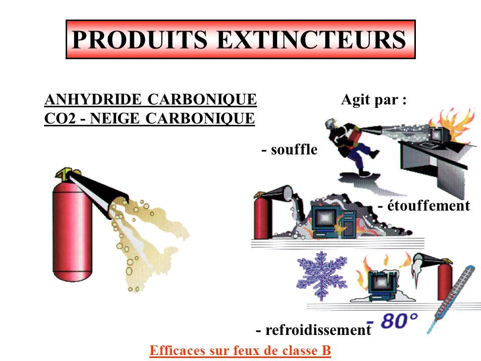 PRODUITS EXTINCTEURS ANHYDRIDE CARBONIQUE CO2 - NEIGE CARBONIQUE