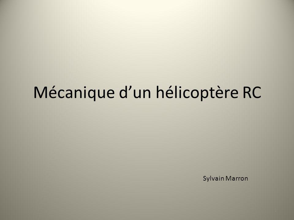 Mécanique d'un hélicoptère RC