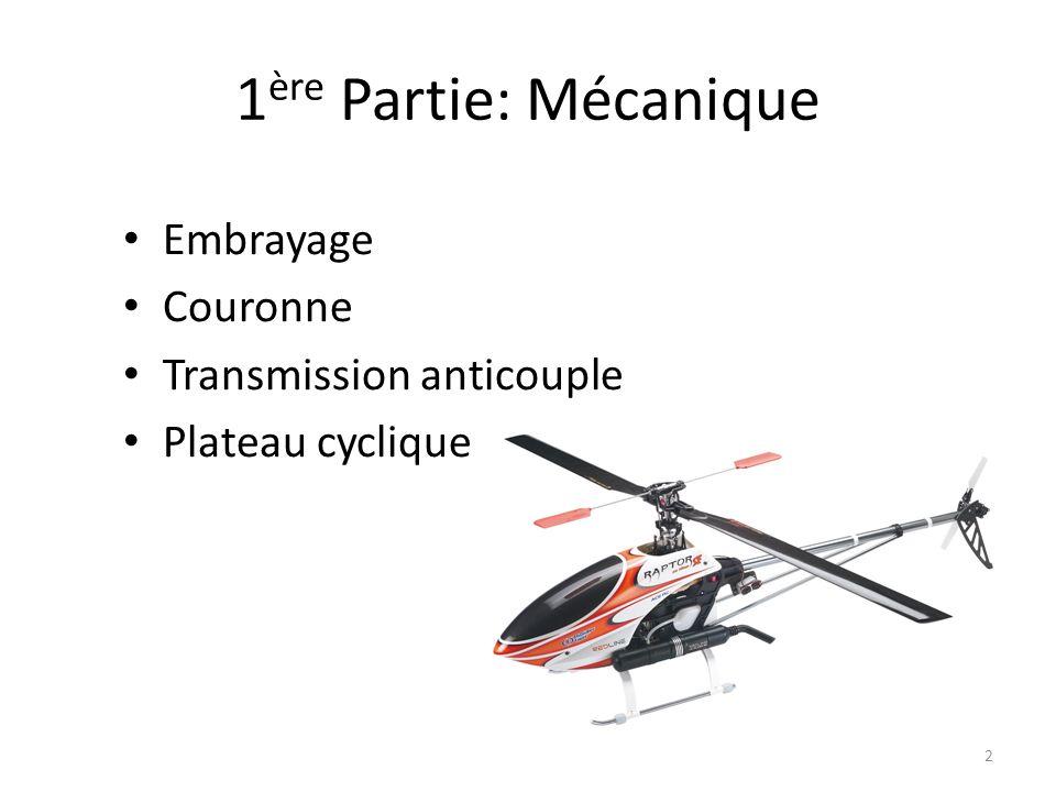 1ère Partie: Mécanique Embrayage Couronne Transmission anticouple