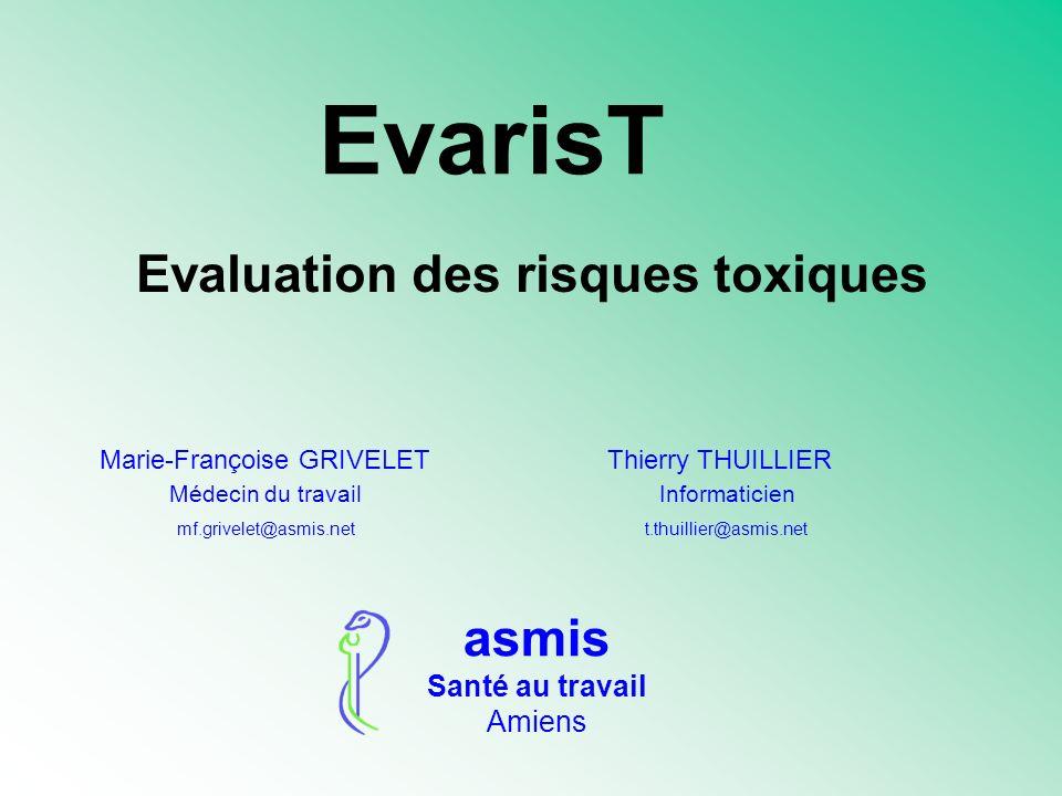 Evaluation des risques toxiques