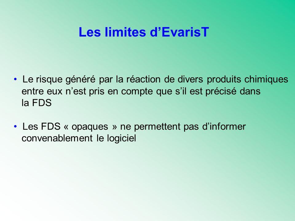 Les limites d'EvarisT