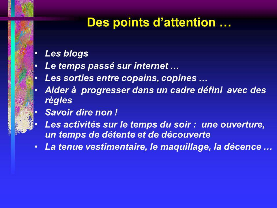 Des points d'attention …