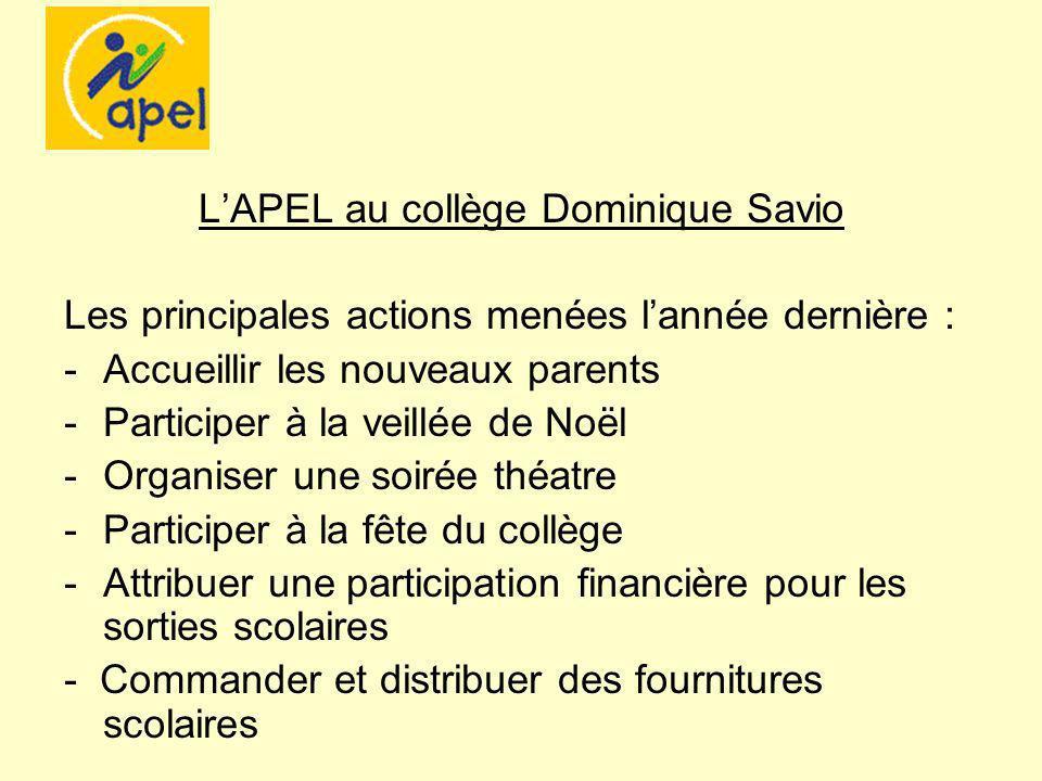 L'APEL au collège Dominique Savio