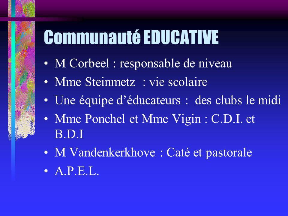 Communauté EDUCATIVE M Corbeel : responsable de niveau