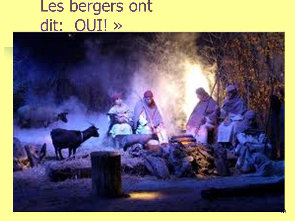 Les bergers ont dit: OUI! »