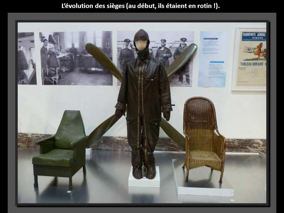 L'évolution des sièges (au début, ils étaient en rotin !).