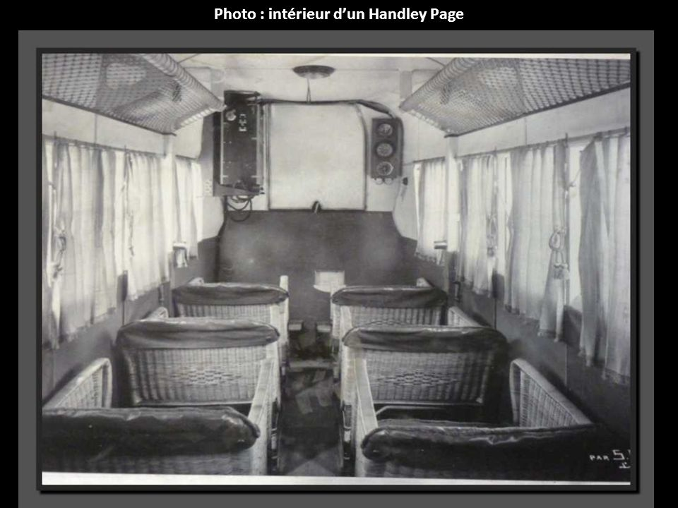 Photo : intérieur d'un Handley Page