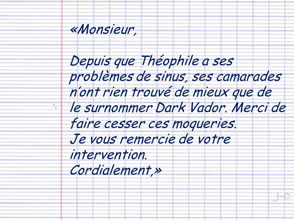 «Monsieur,