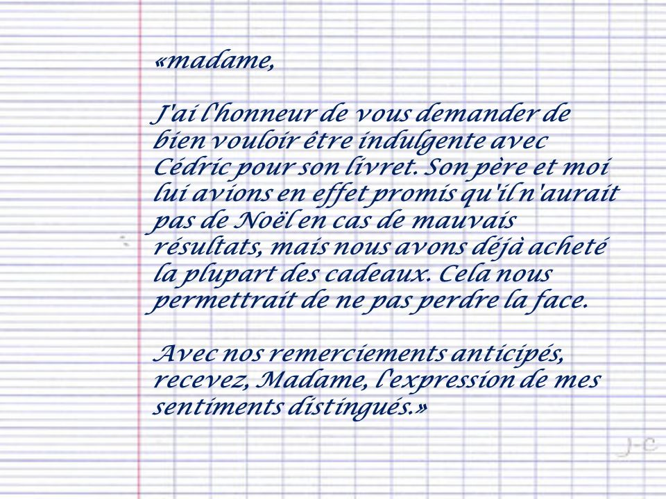 «madame,