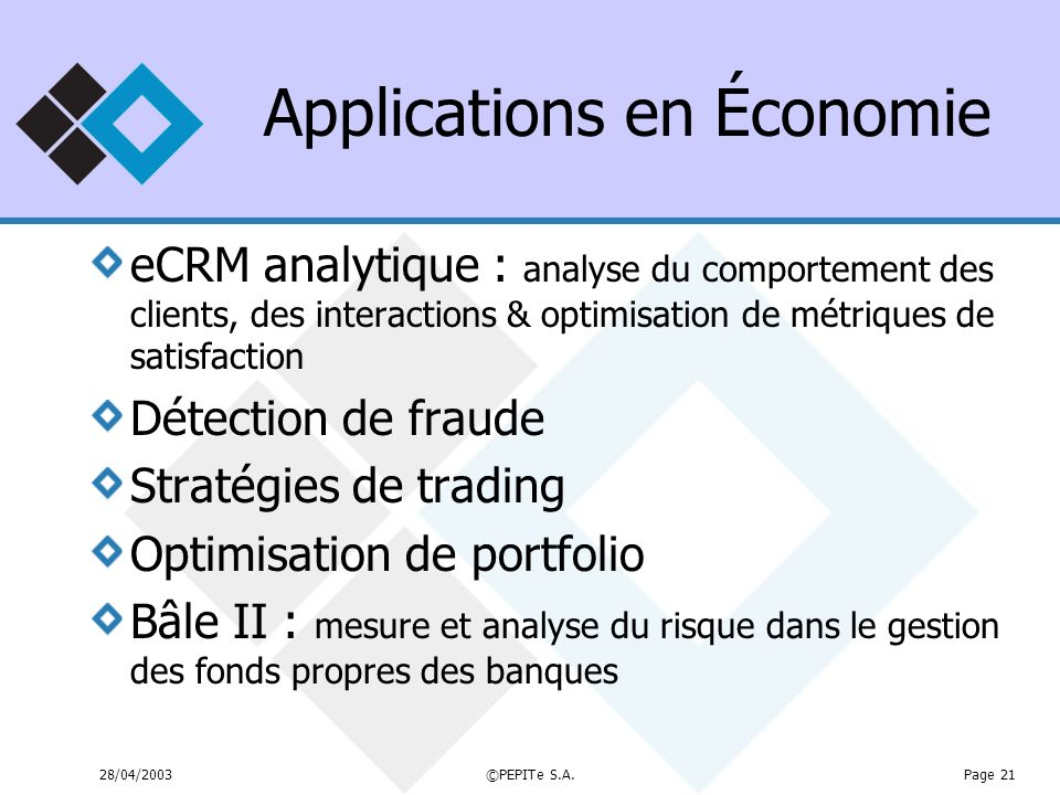 Applications en Économie