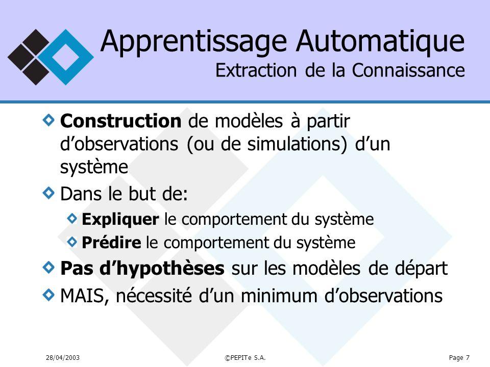 Apprentissage Automatique Extraction de la Connaissance