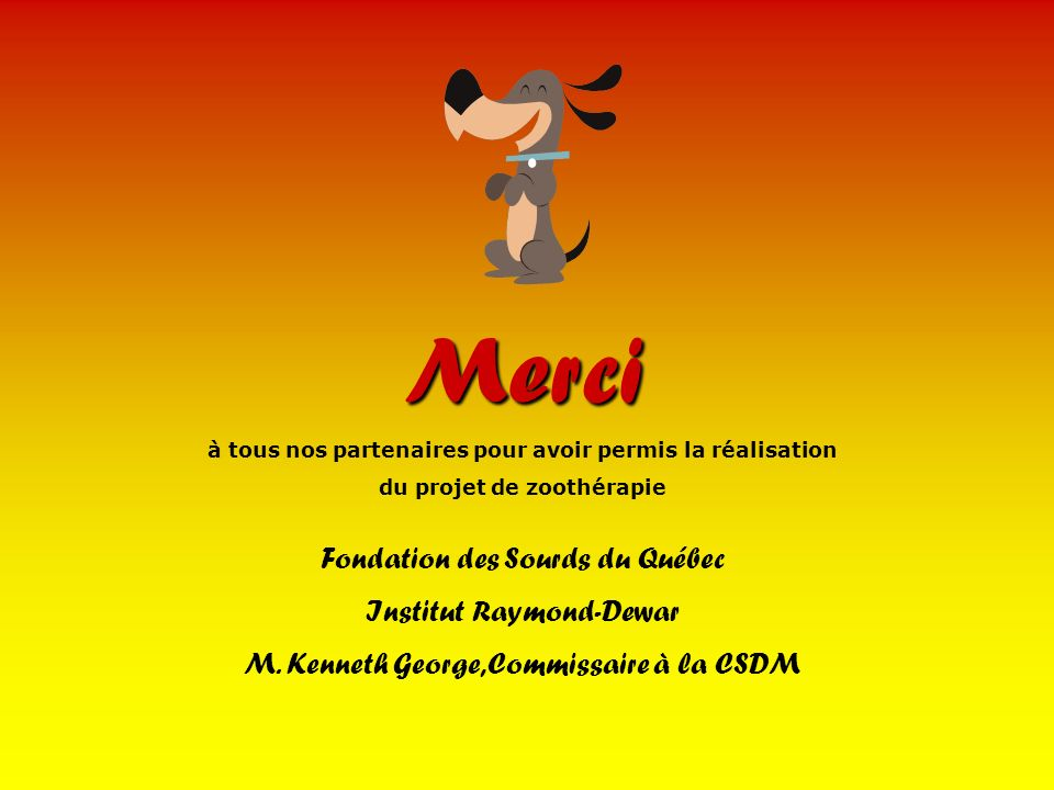 Merci Fondation des Sourds du Québec Institut Raymond-Dewar
