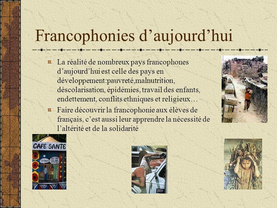 Francophonies d'aujourd'hui