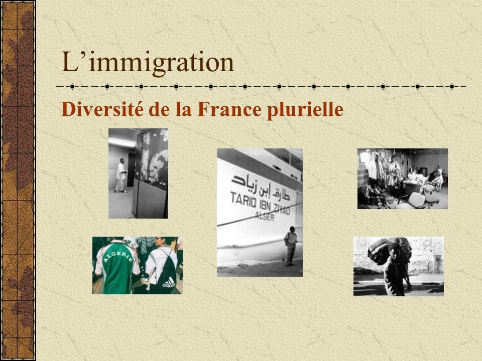 L'immigration Diversité de la France plurielle